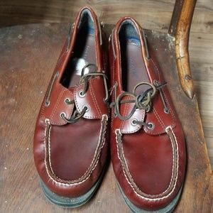 DOCKERS Men's Rust Leather BOAT SHOES